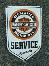 """Harley 24"""" porcelain sign collectible rar vintage logo old motorcycle dealer USA"""