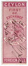 (I.B) Ceylon Revenue : Foreign Bill 2R 25c (First)