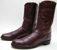 WOMENS JUSTIN 3068 BURGUNDY LEATHER ROPER COWBOY WESTERN BOOTS SZ 7.5~1/2 A