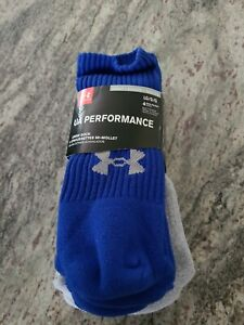 Under Armour UA Performance Crew Socks 4 Pair Men Large 9-12.5  Brand New