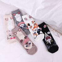Lovely Cat Animal Pattern Women Cotton Sock Casual Sock Winter Autumn Warm Sock
