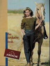 1982  JORDACHE  JEANS : ( Horse )    Magazine  Print AD *