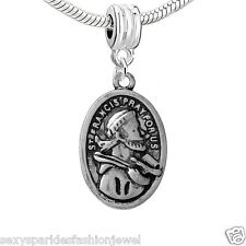 """Religious Charm"""" St. Francis Pray for Us""""dangle Charm-3678"""