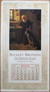 Water Valley, MS 1915 Advertising Calendar/13x24 Poster: Buckley Hardware - Miss