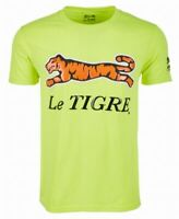 Le Tigre Mens T-Shirt Yellow Size Large L Crewneck Logo Graphic Tee $39 #283