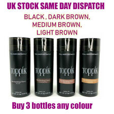Toppik Hair Building Fibres 27.5 - Buy 3 Bottles Any Colour -Same Day shipping