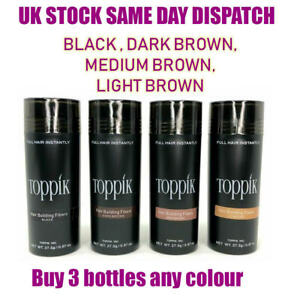 Toppik Hair Building Fibres 27.5 - Buy 3 Bottles Any Colour -Same Day shipping