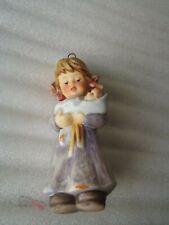 Hummel Ceramic Christmas Ornament Girl holding Baby Goebel 1999 Berta Hummel