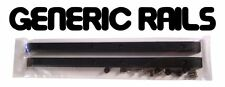 NOS Generic SIDE RAILS Skateboard Gorilla Rib Bone Style Grab Rails BLACK