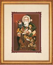 Christmas Present by Gre Gerardi Santa Clause Open Edition Framed Ready To Hang