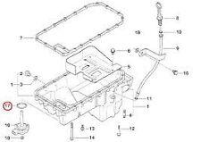Oil Level Sensor Gasket Genuine BMW 12611744292 E82 E46 E90 E60 X1 X3 X5 X6 Z4