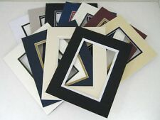 Set of 20 16x20 ASSORTED Color Double Mats for 11x14 picture + backing + bags