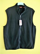 NWT Men's IZOD Performance Full Zip XL Fleece VEST Jacket Thermal BLACK New