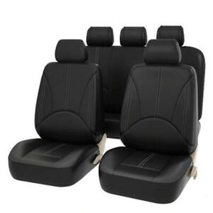 Universal PU Leather Car Seat Covers Set Seat Protector Auto Styling (9pcs)