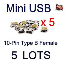 5 Lots Mini USB 10Pin Type B Female SMT PCB Port Mount Charger Socket Connector