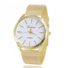 Women's Gold Plated Stainless Steel Band Watch Analog Quartz Wrist Watch HOT