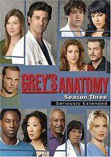 GREY'S ANATOMY COMPLETE THIRD SEASON 3 DVD SERIOUSLY EXTENDED BOX SET NEW SEALED