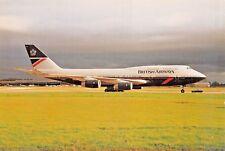 BRITISH AIRWAYS G-BNLM B747-436 c/n 24055 Airline Airplane Postcard