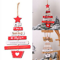 Christmas Wooden Pendant Hanging Door Decorations Xmas/Tree Home Party Ornament