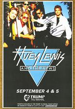 Huey Lewis autographed gig poster