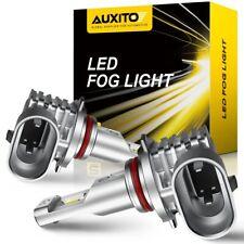 2X AUXITO High Power H10 9140 9145 LED 6000K CANBUS White Fog Lights Bulb 4000lm