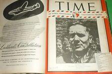 Rare Volume Time 16 Magazine Au Août Al Décembre 1944 General Tito D'Origine