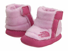 The North Face NSE Infant Baby Girl Fleece Booties Pink Size 4  (6-9 Months old)