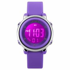 Skmei Girls Purple Digital Watch Water Resistant Stopwatch Alarm Ages 5+ DG1100