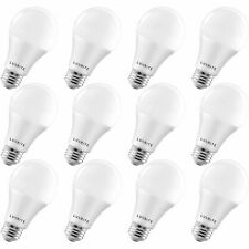12x Luxrite A19 LED Bulb 100W Equivalent 3000K Enclosed Fixture Rated 1600lm E26