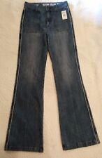 NWT Volcom High Waist Wide Leg Flare Jeans Juniors size 7 Long Tall