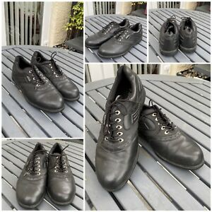Mens dunlop Lace Up golf shoes Uk Size 12 Euro Size 46 leather uppers