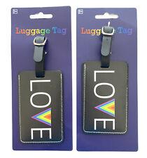 2 Luggage Tags AMPRO Rainbow Love Brand New