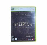 Xbox 360 The Elder Scrolls IV: Oblivion GOTY Replacement Case w Man Map Disc 2