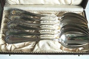 Silber - Besteck , 6 Löffel , Esslöffel 335 Gramm 800 er Ag , ca. 1925 ,