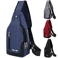 Mens Chest Bags Pack Travel Sports Shoulder Sling Backpack Cross Body Outdoor