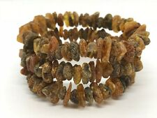Lot 3 Natural Baltic Amber Raw rough unpolished healing bracelet set 25 g #2668
