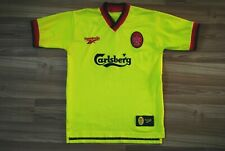 SIZE YOUNG LIVERPOOL AWAY FOOTBALL SHIRT 1997-1998-1999 JERSEY REEBOK VTG YELLOW