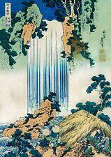A4 Japanese Wall Art Print Yoro Waterfall Mino Province by Katsushika Hokusai