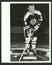 Johnny McKenzie Boston Bruins 1960s Vintage Hockey Press Photo