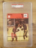 1977-79 Sportscaster Joe Frazier Card #09 -10 Italy PSA 6 EX-MT NICE GRADED CARD