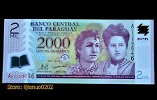 Paraguay 2000 Guaranis 2008/2009 UNC POLYMER BANKNOTE CURRENCY