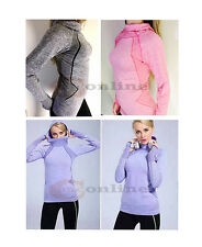 Women's Training Hoodie Top Jacket Seamless Quick Dry Functional Fabric