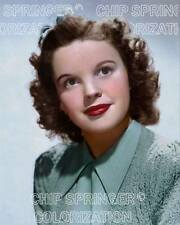 JUDY GARLAND WEARING A GREEN SWEATER (#2) BEAUTIFUL COLOR PHOTO BY CHIP SPRINGER