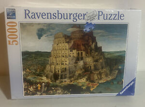 RAVENSBURGER 5000 Pieces PUZZLE BRUEGHEL THE ELDER TOWER OF BABEL NEW Sealed