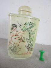 original alte Snuffbottle Knochen Kamasutra oral best cunnilngus Sex China ~1960