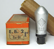 Telefunken EB2 / EB 2 / E.B. 2 Cu Bi Topfsockel-Röhre für Dampfradios, NOS