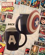 Marvel Comics Captain America Molded Mug Cup Ceramic Large Shield Rare Avengers