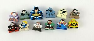 Lot of 12 Mighty Meeples Batman / Miscellaneous Character Wood Painted Meeples