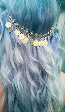 Gold Coin Belly Dancing Arabian Hair Head Chain headdress Headpiece Headband