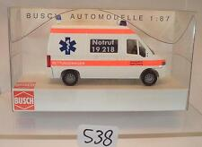Busch 1/87 Nr. 47321 Fiat Ducato RTW Ambulanz Stadler Freyung Bayern OVP #538